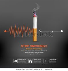 Quit Smoking Tips. Kick Your Smoking Habit With These Helpful Tips. There are a lot of positive things that come out of the decision to quit smoking. You can consider these benefits to serve as their own personal motivation No Smoking Day, Quit Smoking Tips, Anti Smoking Poster, Stop Smoking Cigarettes, Smoking Campaigns, World No Tobacco Day, Pinterest Advertising, Smoking Addiction, Smoking Cessation