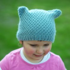 Ruskin cat-ear Hat PDF knitting pattern (instructions) by WoollyWormheadHats on Etsy