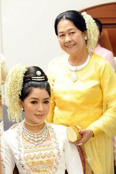 Myanmar Wedding Dress See More Hair Style