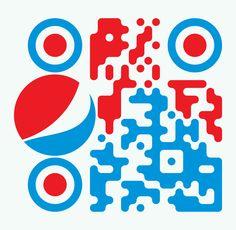 PepsiQRcode1 My Design, Logo Design, Graphic Design, Barcode Design, Qr Codes, Mobile App, Grid, Label, Typography