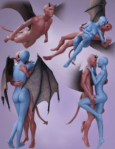 Download DAZ Studio 3 for FREE!: DAZ 3D - Fantasy Poses for Damien Devil and Victor...