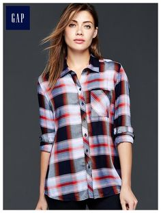 Drapey plaid boyfriend shirt - size MED I think in the color (shown) and as well as one in white/grey/black/yellow