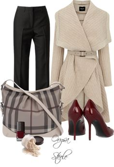 "Loveeee this coat! Very Olivia Pope. ""Beige and Burberry"" by orysa on Polyvore"