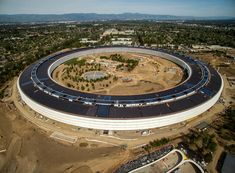 Apple Park is the future headquarters of Apple Inc. in Cupertino, California. Construction continues to complete the buildings and its interiors. Cupertino California, Menlo Park, Frank Gehry, Apple Inc, Pool Houses, Prefab, Modern Architecture, Palace, Palazzo