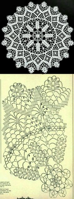 Crochet Doily Diagram, Crochet Doily Patterns, Crochet Mandala, Filet Crochet, Crochet Home, Love Crochet, Diy Crochet, Crochet Flowers, Crochet Dollies