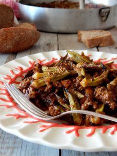 Μπάμιες μπολονέζ Bolognese, Beef, Food, Meat, Essen, Meals, Yemek, Eten, Steak