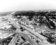 Florida Memory - Miami Metrorail under construction - Miami, Florida. Miami Beach, Miami Florida, South Miami, Rail Car, Chicago Photos, Two Decades, Image Title, Photo Archive, Under Construction