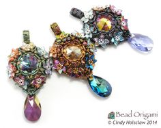 Prism Blossoms Pendants - Cindy Holsclaw - Bead Origami