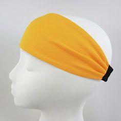 High Performance Sweat-Wicking Headband in Sun Gold
