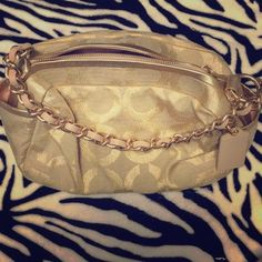 Small gold Coach purse Great for a night out on the town. Never used. Brand new, no tags. Coach Bags