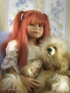 Tikiri Annette Himstedt, Christmas Pjs, Vinyl Dolls, Sculpture Art, Beautiful Outfits, Sculpting, Porcelain, Photoshop, Artist