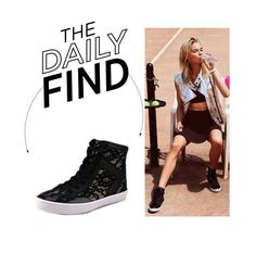 """The Daily Find: Rebecca Minkoff Smith High Top Sneakers"" by polyvore-editorial ❤ liked on Polyvore featuring Rebecca Minkoff, women's clothing, women, female, woman, misses, juniors and DailyFind"