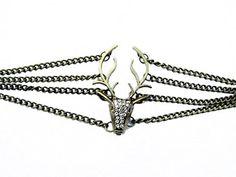 Vintage Style Antique Bronze Deer Antler Pendant Women Jewelry Bangle Chain Cuff Bracelet CICI http://www.amazon.com/dp/B015U1A9C2/ref=cm_sw_r_pi_dp_0zsvwb08FD6X1