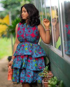Short African Dresses, Latest African Fashion Dresses, African Print Dresses, African Print Fashion, Modern African Fashion, African Clothes, Ankara Stil, African Print Dress Designs, Frack