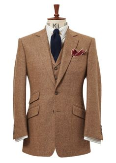 Chester Barrie, A/W 2012, a lovely soft brown tweed suit.