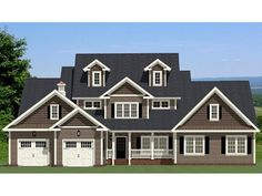 Farmhouse House Plan with 3568 Square Feet and 4 Bedrooms from Dream Home Source | House Plan Code DHSW077157