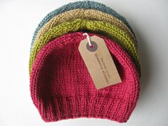 A baby hat made with cotton silk cashmere is dreamily soft.