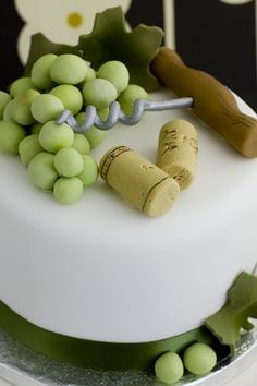 Wine cake : Anniversary and Birthday Cakes | Juliet Stallwood Cakes & Biscuits