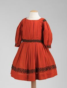 Girl's (possibly worn by boy) dress.  Wool.  ca. 1865