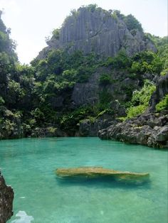 """Tangke"" a salt water lagoon in Gigantes Island,Iloilo, Philippines"