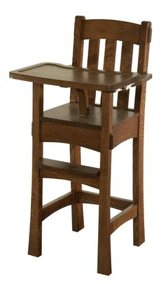 Choose from a wide variety of Amish made wood high chairs, cribs and rocking chairs from DutchCrafters Amish furniture store. Amish Furniture, Solid Wood Furniture, Cool Furniture, Classic Furniture, Wood High Chairs, French Dining Chairs, Wooden Chairs, Metal Chairs, Cute Desk Chair
