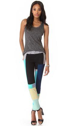 J Brand Colorblock Skinny Jeans