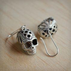 Sugar Skull Hook Earrings