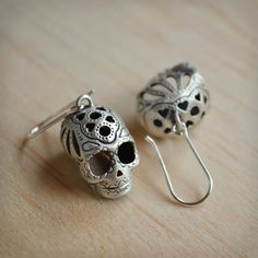 Sugar Skull Hook Earrings