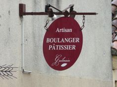 Sign of a bakeryshop in France