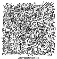 Doodles 32 Coloring Page