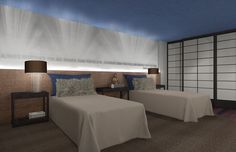 Boys Bedroom 3D Renderings