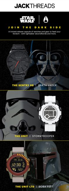 A limited-release capsule of watches and gear to feed your fandom - with lightsaber secondhands and more.