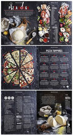 Food infographic  Pizza story from Food Magazine Issue #10 designed by Hieu Nguyen. See more work