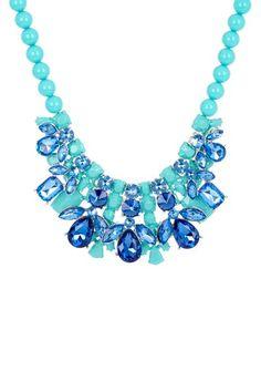 Resin & Crystal Deco Bib Necklace by t+j Designs on @HauteLook