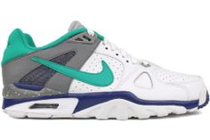 NIKE MEN'S AIR TRAINER CLASSIC WHITE/DEEP ROYAL BLUE/COOL GREY/NEW GREEN Size 11.5 Nike,http://www.amazon.com/dp/B005ODW3N0/ref=cm_sw_r_pi_dp_XQprtb1KYV21ZZ1V