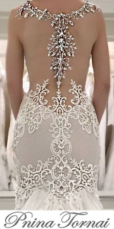 Pnina Tornai Turning heads is the Beautiful Wedding Gowns, Dream Wedding Dresses, Bridal Dresses, Beautiful Dresses, Pina Tornai Wedding Dresses, Pnina Tornai, Wedding Attire, Gown Wedding, Lace Wedding