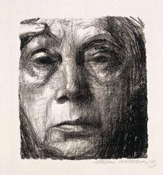 self-portrait  Kathe Kollwitz, German (1867 - 1945)