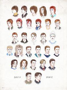 David Bowie como nunca lo habías visto: su evolución en GIFS