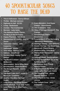 Haunting Halloween Playlist: 40 Spooktacular Songs to Raise the Dead