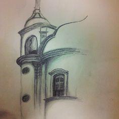 Janela detalhada, Igreja do Pilar - Ouro Preto #Architecture #arquitetura #croqui #barroco #drawing #desenho #OuroPreto #Minas #MinasGerais