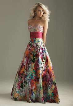 always been in love with this dress, so colorful.