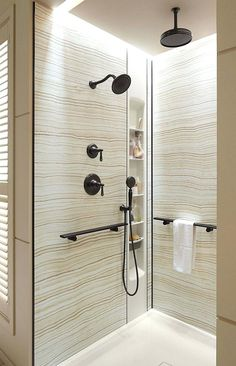 Kohlers Choreograph Shower Wall Accessory Collection Is A Bathroom Game Changer Because It Allowssolid Materials Construction