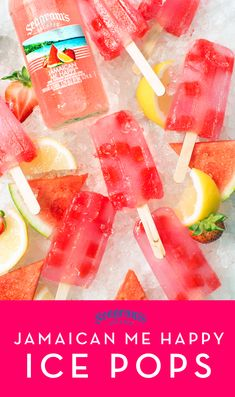 These refreshing boozy ice pops are made with Seagram's Escapes Jamaican Me Happy and fresh watermelon! Summer Drinks, Fun Drinks, Fruity Mixed Drinks, Beverages, Fun Cocktails, Summer Parties, Party Drinks, Alcoholic Popsicles, Vodka Popsicles