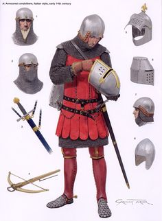 A 14th century Italian condottiore, an Italian term for professional mercenary. Instead of standing armies, the Italian republics would just hire entire armies of mercs.