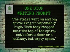 One Stop For Writers Writing Prompt http://www.onestopforwriters.com/