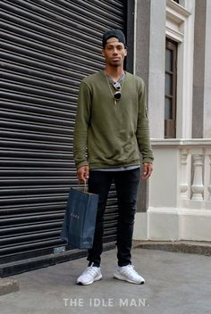 Men's Street Style | Get Your Swag On - Take to the streets for inspiration when you want to get your swag on. Some fitted jeans and an oversized jumper with a snapback is the easy way to get this look. | Shop the look now at The Idle Man