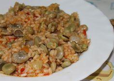 Las Recetas de Maria : ARROZ CON HABAS Sin Gluten, Gluten Free, Healthy Smoothies, Risotto, Grains, Rice, Cooking Recipes, Yummy Food, Pasta