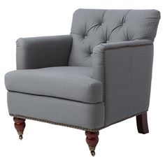 Gatwick Arm Chair in Grey