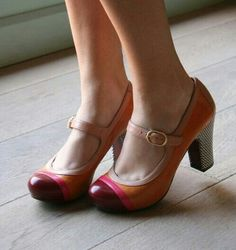 Color block mary janes - Super cute, and look almost comfy