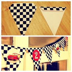 Disney Pixar Cars Birthday Party - DIY Bunting
